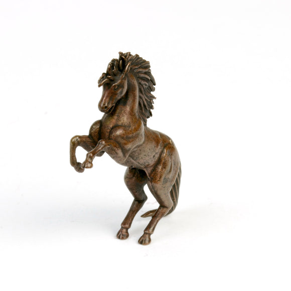 Rearing stallion - bronze figurine by David Meredith