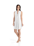 Hanro Cotton Deluxe Sleeveless Short Nightdress (07 7952)