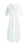 Hanro Cotton Deluxe Short Sleeve Short Nightdress (07 7954)
