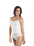 Hanro Cotton Seamless  Spaghetti Strap Vest Top (07 1600)