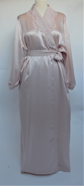 Selite Shawl Collar Pure Silk Full Length Dressing Gown 275668
