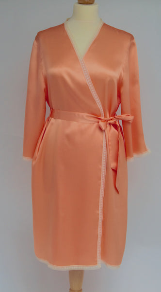 Vintage Style Pure Silk Short Robe 234617 (In stock, 3 day delivery)