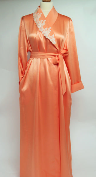 Selite Shawl Collar Pure Silk Full Length Dressing Gown 235699 (In stock, 3 day delivery)