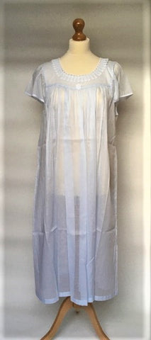 Evelyn 2NH Cap Full Length Mousseline Nightdress (In stock, 3 day delivery)