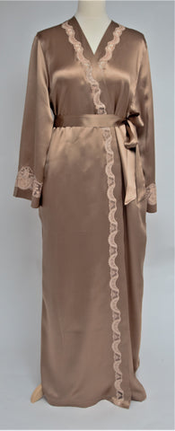 Selite Pure Silk Full Length Dressing Gown 275395