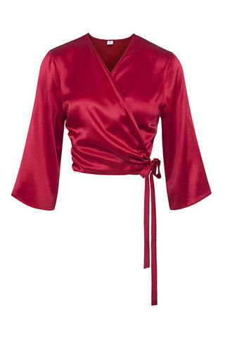 Cross Over Silk Bedjacket