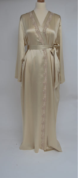 Selite Pure Silk Full Length Dressing Gown 245814