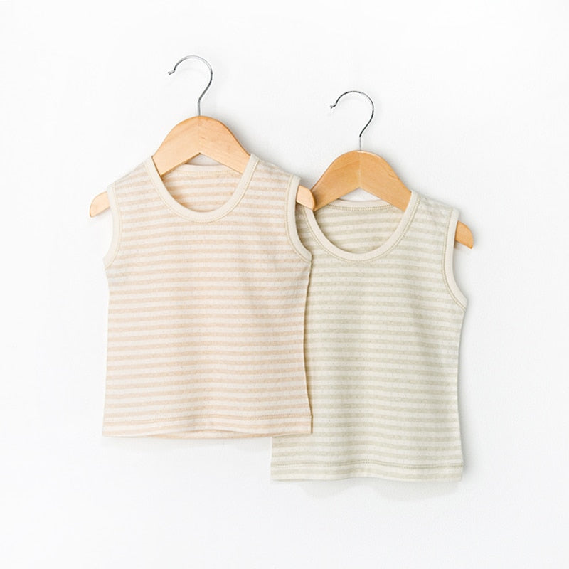 """Best Vest Means Best Dressed"" Organic Cotton Baby Vests"