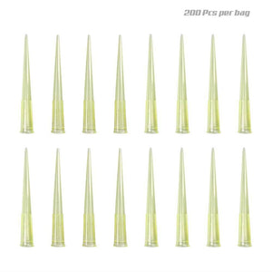 Pipette Tips 200 UL 200 PCS Clear Yellow - Canine P4 Dot Com