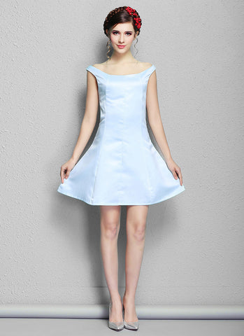 Light Blue Aline Mini Dress RD574