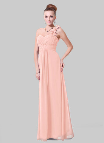 Open Shoulder Dusty Rose Pink Maxi Dress with 3D Floral Embellishment RM456