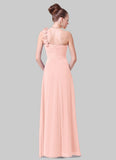 Open Shoulder Dusty Rose Pink Maxi Dress with 3D Floral Embellishment