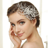 Hand Wired Bridal Headpiece - Crystal Wreath with Floral Pattern - Crystal Bridal Halo HP8