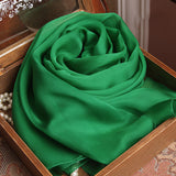 Emerald Green Silk Chiffon Scarf - Forest Green Mulberry Silk Scarf - SS5