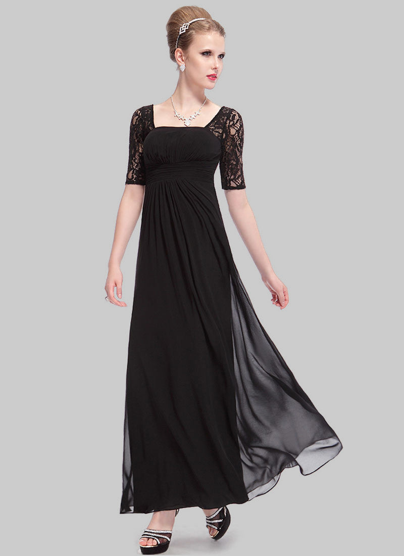2df0bba0b5f4 Empire Waisted Thistle Lace Chiffon Maxi Dress with Open Back RM452 ...