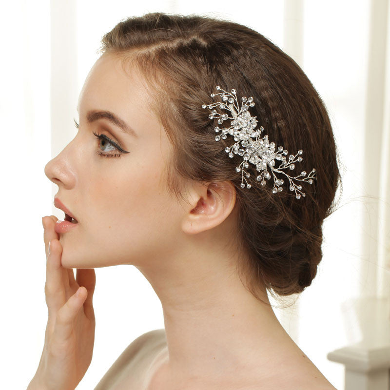 Hand Wired Bridal Headpiece - Crystal Wreath with Floral Pattern - Wedding Headpiece - Bridal Hair Piece - Crystal Bridal Halo HP21
