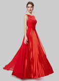 V Back Red Evening Dress with Layered Skirt