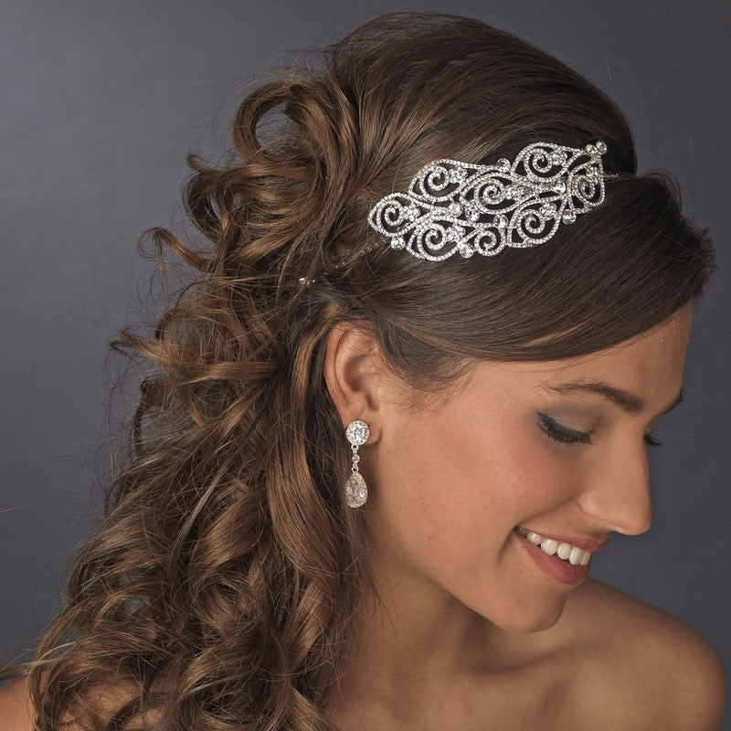 Hand Wired Bridal Headpiece - Crystal Wreath -Crystal Hair Piece - Wedding Head Piece - Crystal Bridal Halo HP25