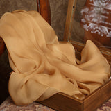 Golden Rod Pink Silk Chiffon Scarf - Peru Color Mulberry Silk Scarf SS20