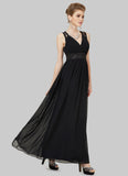 Open Back Black Evening Dress with Embellished Waist Yoke and Neck
