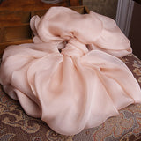 Nude Pink Silk Chiffon Scarf - Dusty Rose Pink Mulberry Silk Scarf SS10