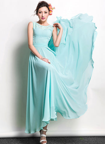 70b427fc0c0 Dark Teal Chiffon Maxi Dress with Modified Dolman Sleeves RM556 ...