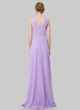 V Back Violet Evening Dress with Sweetheart Neck