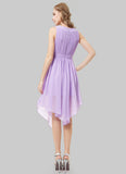 Violet Asymmetric Mini Dress with Lace Details RD393