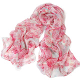 Digital Printed Silk Chiffon Scarf - Butterfly Print Mulberry Silk Scarf PS1-Butterflies