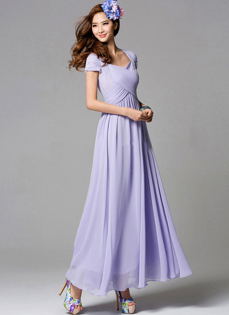 d65f2bafd96a Thistle Maxi Dress with Pleated Bodice in Angled Crossing Shape ...