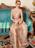 Dusty Rose Pink Floral Embroidered Maxi Dress RM102
