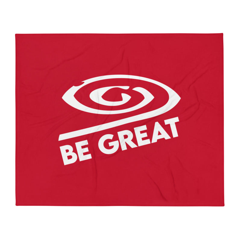 Throw Blanket Be Great Red