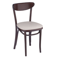 Petite Bentwood Solid Beech Wood Oval Back Indoor Restaurant Side Chair
