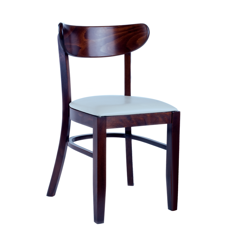 Pier Solid Beech Wood Padded Seat Indoor Restaurant Side Chair - Moda Seating Corp