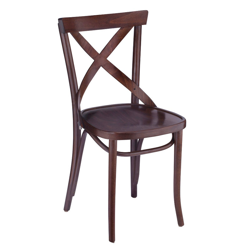 Bentwood Dining X-Back Beech Wood Restaurant Chair - Moda Seating Corp
