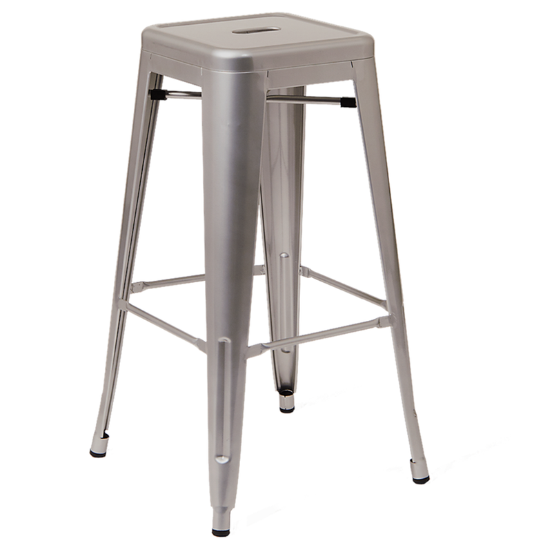 Indoor Backless Steel Restaurant Barstool in Grey Finish - Moda Seating Corp