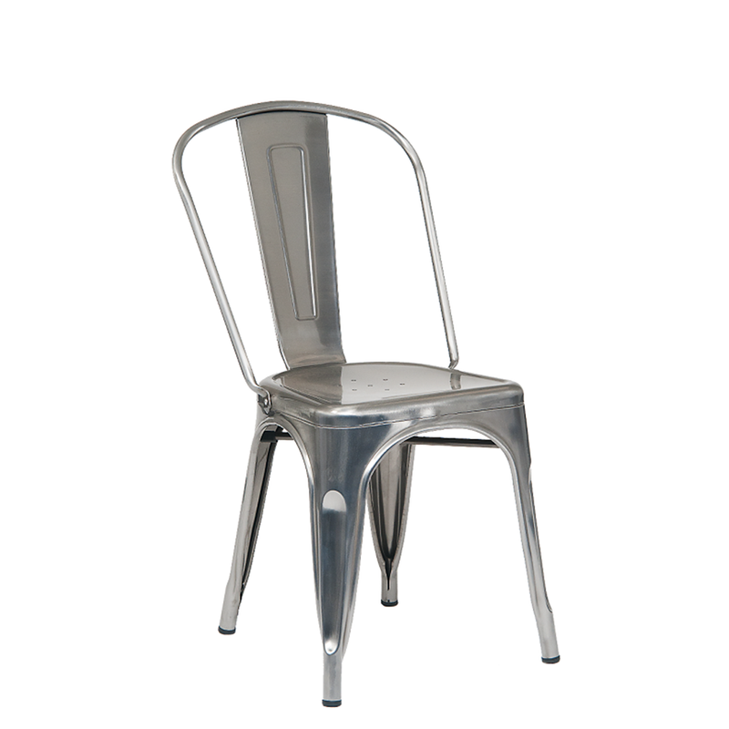 Metal Clear Coat Tolix Style Indoor Restaurant Chair - Moda Seating Corp