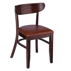 Pier Solid Beech Wood Padded Seat Indoor Restaurant Side Chair