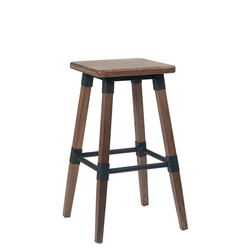 Vilmar Elmwood Backless Indoor Restaurant Stool