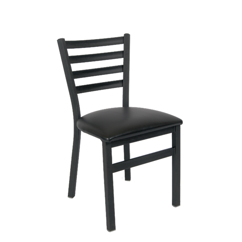 Black Metal Ladder Back Indoor Restaurant Chair - Moda Seating Corp