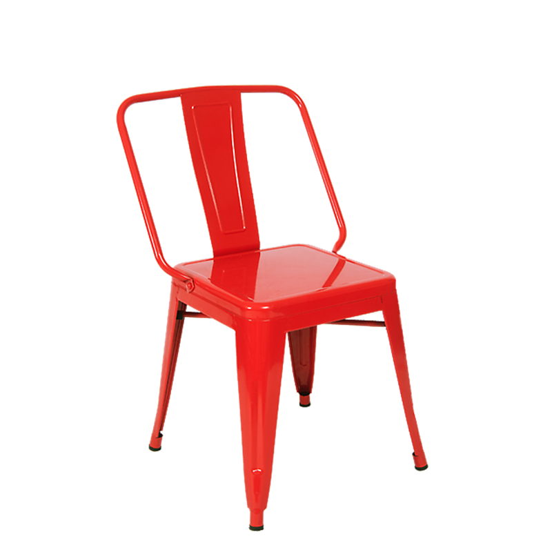 Iron Tolix-Style Indoor Dining Chair in Red Color - Moda Seating Corp