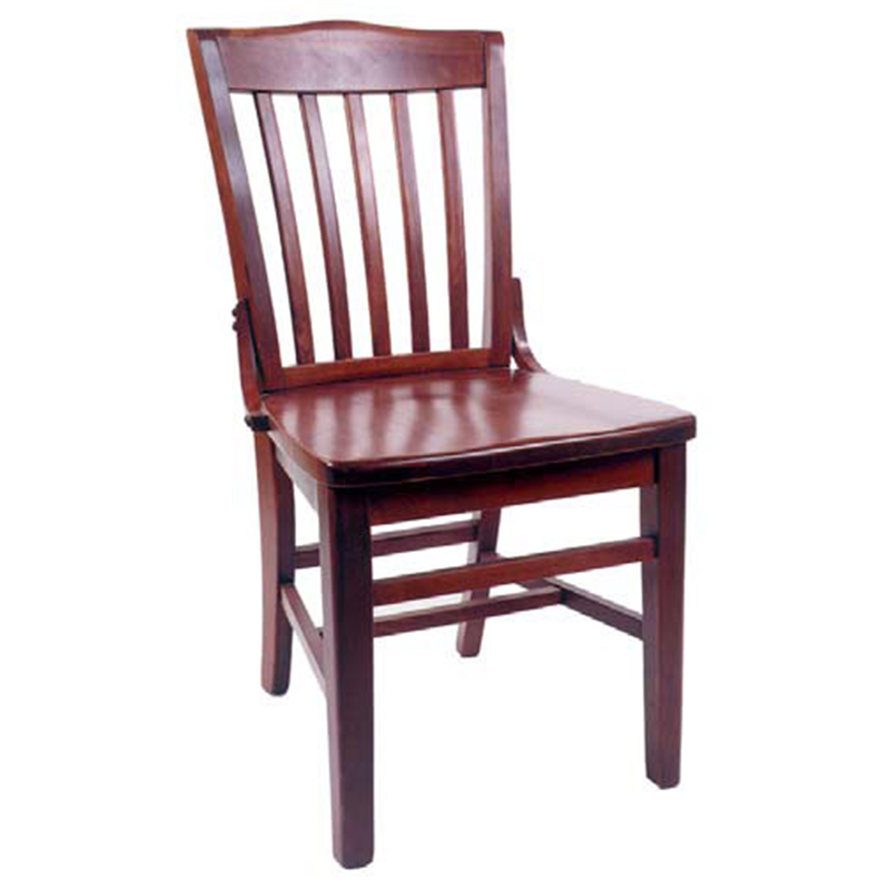 School House Indoor Solid Beech Wood Restaurant Side Chair