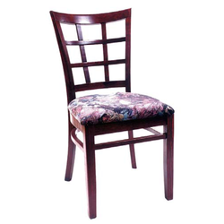 Window Lattice Solid Beech Wood Restaurant Side Chair