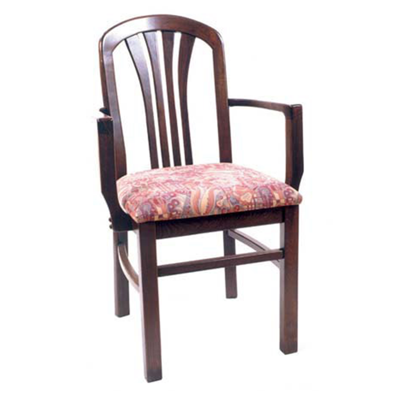 The Hinterland Solid Beech Wood Indoor Restaurant Arm Chair