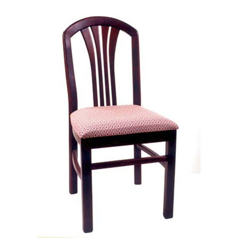 The Hinterland Solid Beeh Wood Indoor Restaurant Side Chair