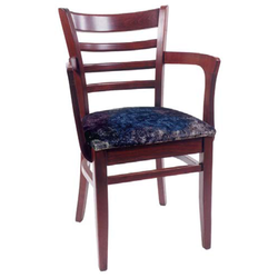 Ladder Back Solid Beech Wood Indoor Restaurant Arm Chair