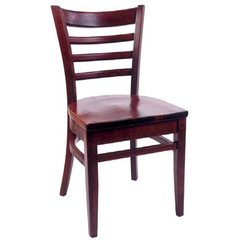 Ladder Back Solid Beech Wood Indoor Restaurant Side Chair - Moda Seating Corp