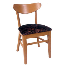 Excelsior Oval Back Solid Beech Wood Indoor Restaurant Side Chair
