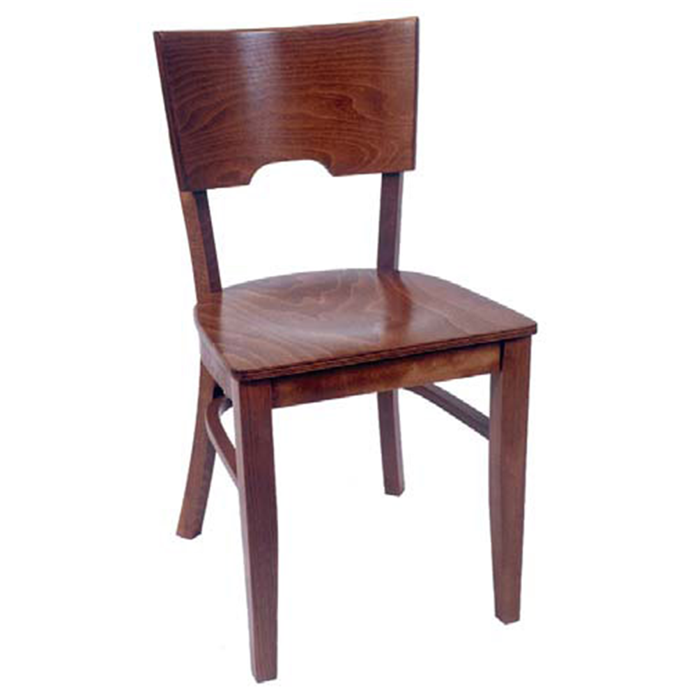 Medieval Solid Beech Wood Restaurant Side Chair