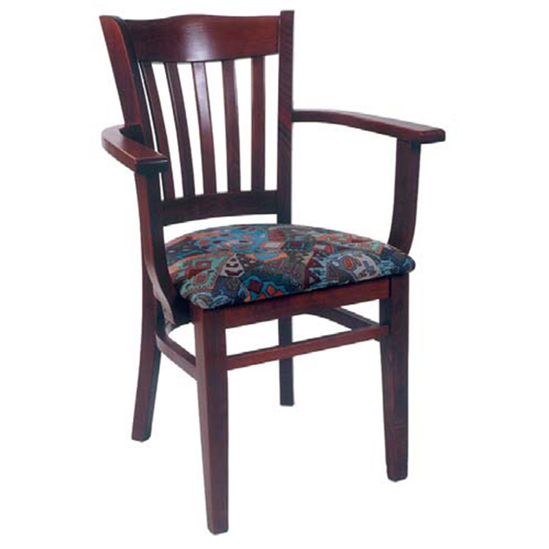 Coronation Solid Beech Wood Indoor Restaurant Arm Chair